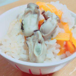 今年初の牡蠣ご飯をしました✨3杯頂きました💓