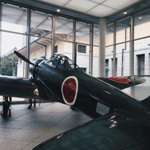 靖国神社に行ってきました‼︎ 初めて航空機✈️を見たのですが大きくてビックリしました‼︎