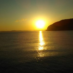 淡路島の海からの日の出⭐️