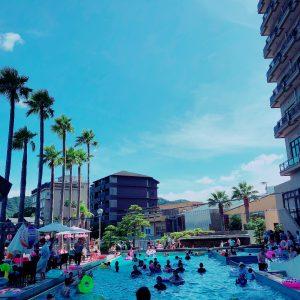 ホテルニューアワジのプールで泳いで温泉にも入りました♨️✨