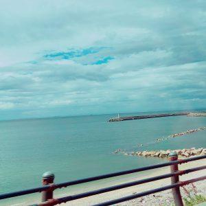 淡路島の海と空!!海では泳いでませんが(笑)